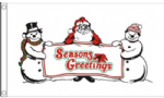 Seasons Greetings Large Christmas Flag - 5' x 3'.
